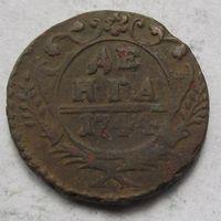 Россия, деньга, 1744, медь