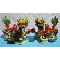 Китайские драконы из пластика (2шт.)