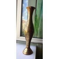 Высокая ваза 44 см Индия середина 20 в Латунь/бронза