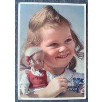 Девочка с куклой. Германия. 1940-е. Подписана.