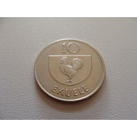 Экваториальная Гвинея. 10 экуэле 1975 год KM#34