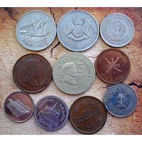 Азия. 10 монет-10 разных стран.