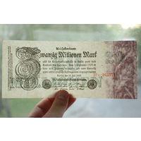 Германия, 20 миллионов марок 1923 год, aUNC