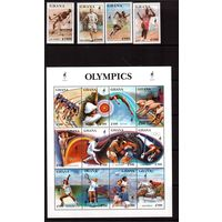 Гана-1995 (Мих.2174-2189) ** ,  Спорт,футбол, ОИ-1996