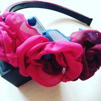 ОЧЕЕЕНЬ красивый Бархатный ободок в розы.