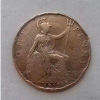 1 пенни, Великобритания 1917 г., Георг V