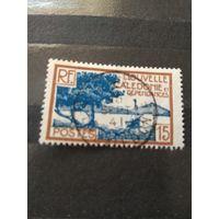 Французская колония Новая Каледония корабль парусник флот (5-4)
