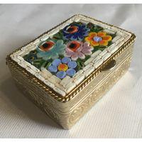 Шкатулка (табакерка) Мозаика, прошлый век