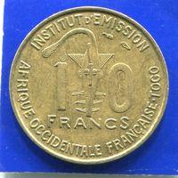 Того 10 франков 1957