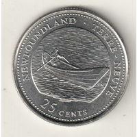 Канада 25 цент 1992 Ньюфаундленд и Лабрадор