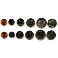 Маврикий 5, 20 центов 1/2, 1, 5, 10 рупий 2000, 2004, 2007, 2009 г.