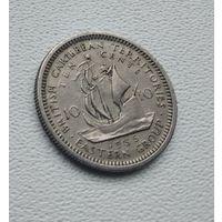 Восточные Карибы 10 центов, 1955  8-11-24