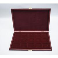 Футляр деревянный для хранения 15 монет в холдерах или капсулах Quadrum.