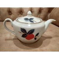 Заварник чайник Полонский фарфоровый завод 50 х годов ручная роспись
