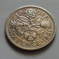 6 пенсов, Великобритания 1961 г.