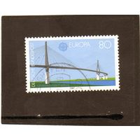 Германия. Ми-1322. Мост Кёльбранда Гамбург (C.E.P.T.) . Серия: Европа (C.E.P.T.) 1987 - Современная архитектура.