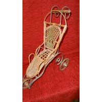 Старинная интерьерная коляска для куклы, Германия