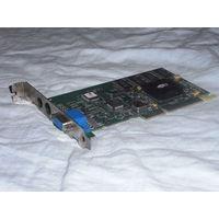 Видеокарта AGP ATi Rage128 109-68100-00 (AGP-2x, 32Мбайт) для ретро-компьютеров.