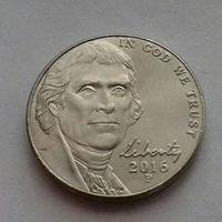 5 центов, США 2016 P, AU