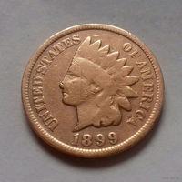 1 цент, США 1899 г., чукча в перьях-2