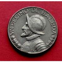 04-07 Панама, 1/10 бальбоа 1982 г. Единственное предложение монеты данного года на АУ