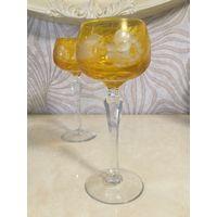 Хрустальный бокал для вина Подсолух, янтарный. Германия