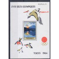 [1056] Гвинея 1965.Спорт.Олимпиада.Прир ода,горы. 2 БЛОКА.