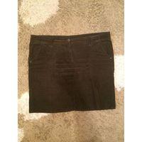 Джинсовая юбка вельвет на 54-56 размер. отлично смотрится, стройнит. поталии 54-57см, длина 52 см.
