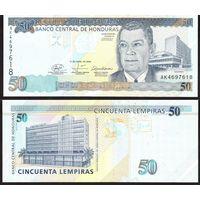 ГОНДУРАС 50  ЛЕМПИР  2008 год  UNC