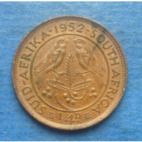 Южная Африка Британский доминион 1/4 пенни (фартинг) 1952 Георг VI