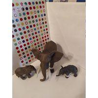 Фигурки Шляйх(Германия) - Дикая Жизнь.Африканский слон,африканский слоненок,индийский слоненок (3 фигурки одним лотом)