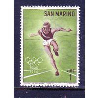 Сан-Марино. Ми-802. Спринт.Олимпийские игры.Токио. (II) 1964.
