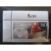 Берлин 1987 Граммофон 1907 года Михель-1,6 евро