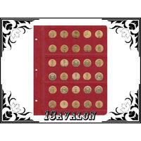 Лист Универсальный для 30 монет диаметром 22 мм, в альбом Коллекционер Коллекционеръ 10руб