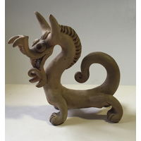 Глиняная фигурка - год дракона - Н - 12см