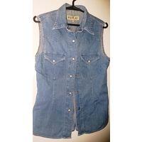 Рубашка джинсовая, р.44-46, б.у из Италии
