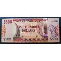 РАСПРОДАЖА С 1 РУБЛЯ!!! Гайана 500 долларов 2011 год UNC
