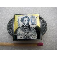 Значок. А.С. Пушкин. 1799-1837 (керамическая вставка)