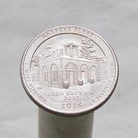 США 25 центов 2016 P Западная Виргиния - Национальный исторический парк Харперс Ферри