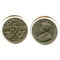 Канада 5 центов 1935 СОСТОЯНИЕ KM29