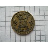 Марокко 20 франков 1952г.