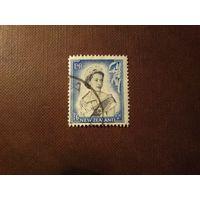 Новая Зеландия 1954 г.Елизавета -II.Номинал больше 1 шиллинга.