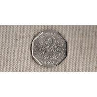 Франция 2 франка 1993/ Жан Мулен(Sp)