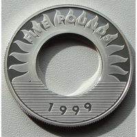 """Гернси.  5 фунтов 1999 год  KM#86  """"Миллениум"""""""