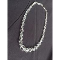 Ожерелье горный хрусталь 45см длинна
