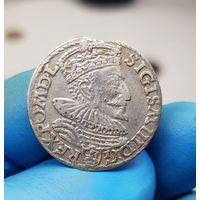 Монета Сигизмунд III серебро Польша 1594 3 Гроша С 1 Рубля без МЦ