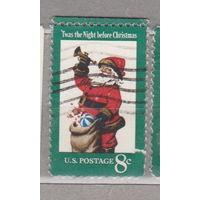 Рождество с верхним полем США 1972 год лот 1063