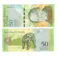 Банкнота Венесуэла 50 боливаров 2007 UNC ПРЕСС префикс С
