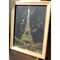 Картина, металл. Париж.