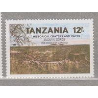 Горы флора Олдувайское ущелье Танзания 1989 год лот 1062 ЧИСТАЯ